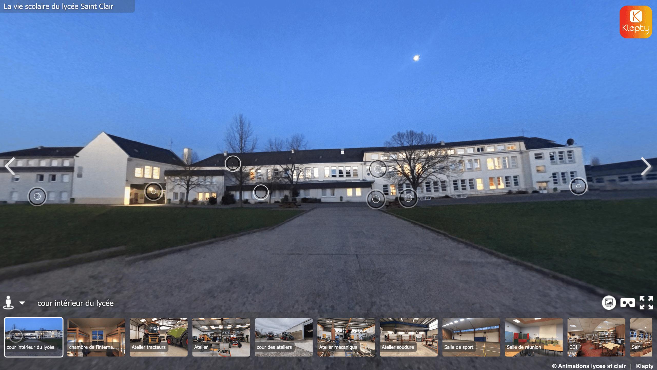 Visite virtuelle du lycée St Clair à Derval.